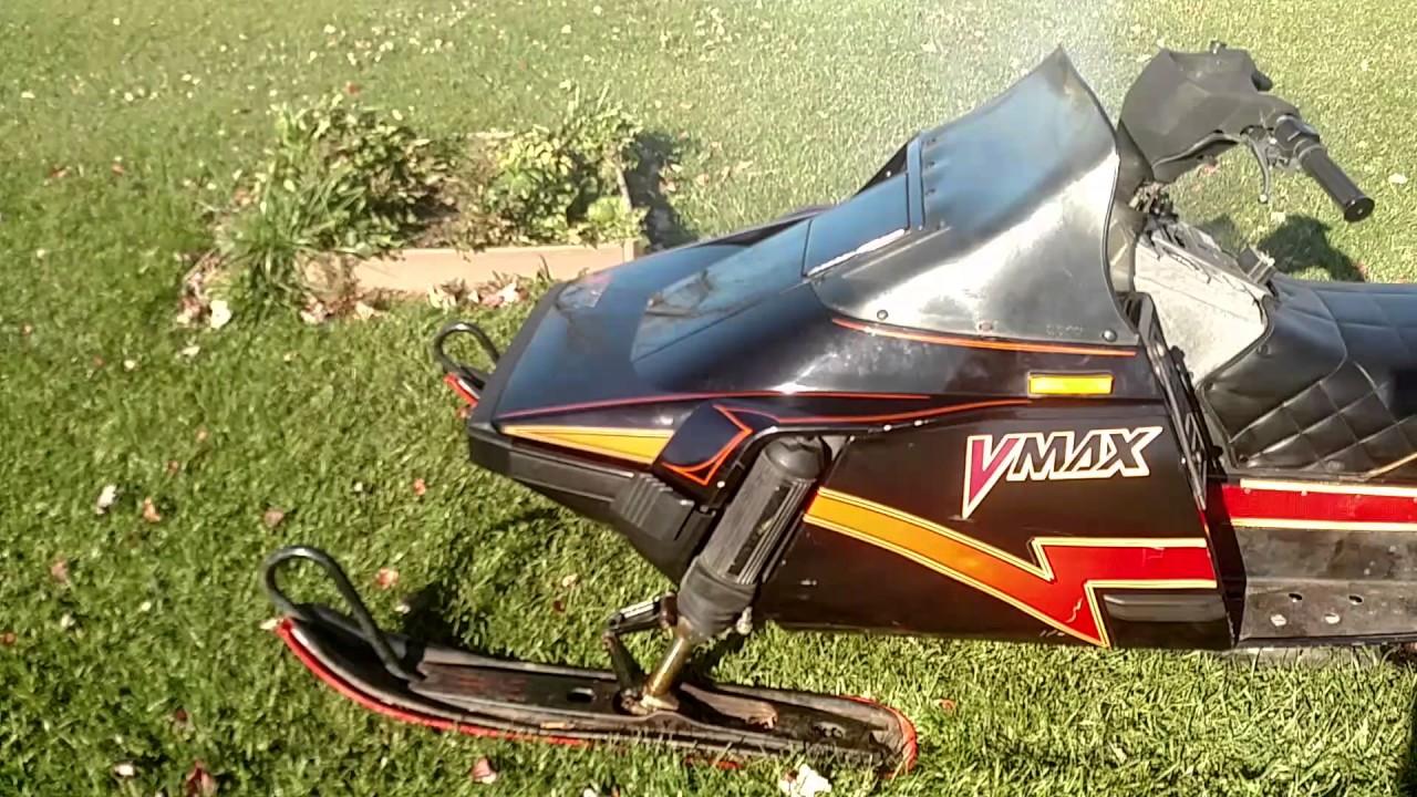1987 yamaha vmax 540 snowmobile youtube