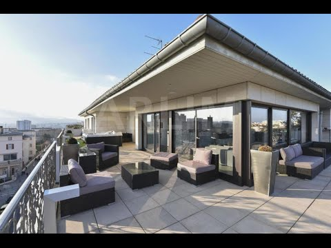 appartement toit terrasse penthouse youtube. Black Bedroom Furniture Sets. Home Design Ideas