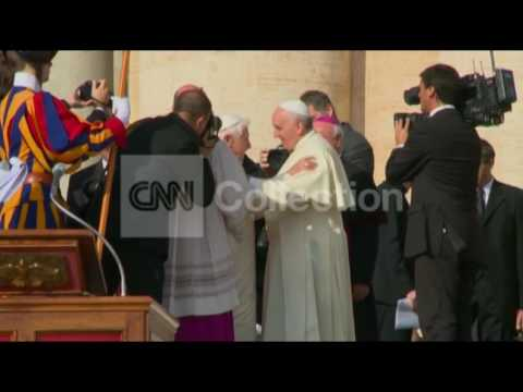 VATICAN: POPE FRANCIS MEETS FMR POPE BENEDICT