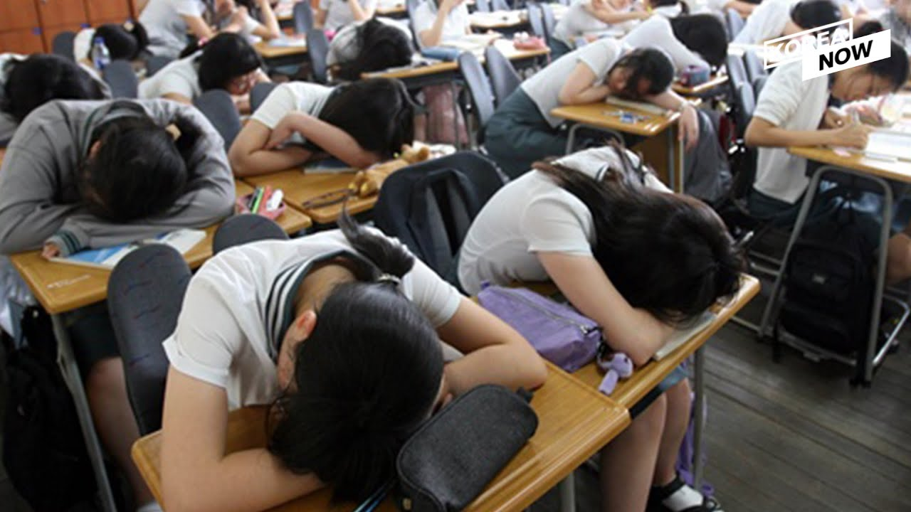 Why are most Korean students sleep deprived?