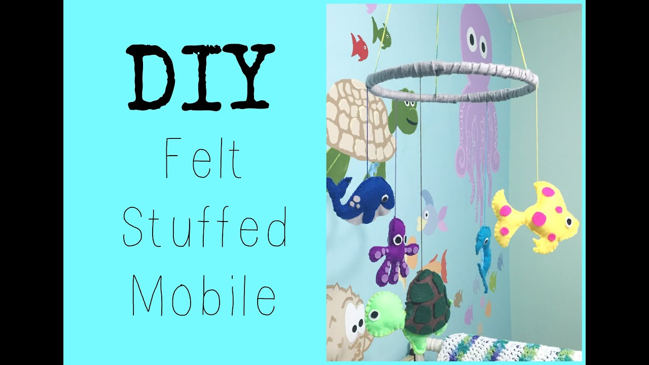 Diy felt mobile nursery series jessica joaquin for Diy baby mobile felt