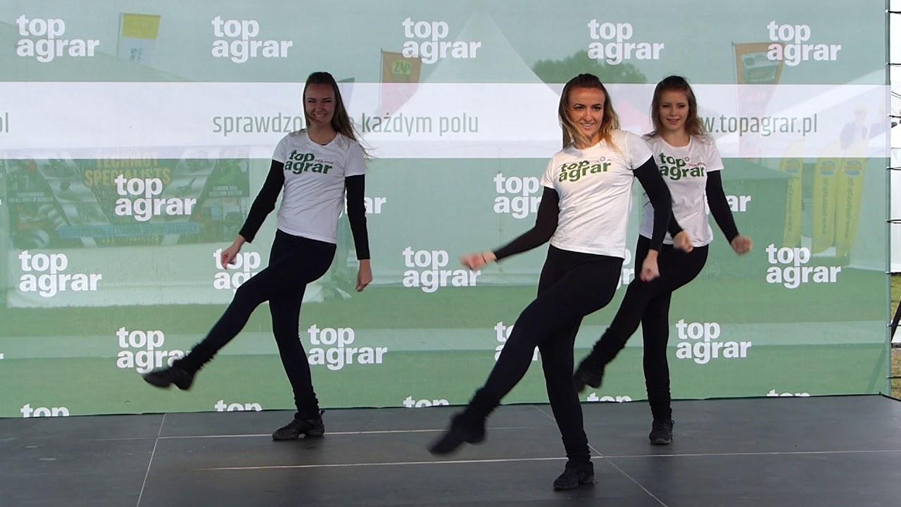 Pokaz taneczny na stoisku top agrar Polska w Bednarach