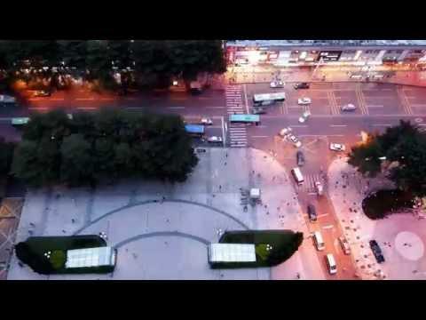 YI M1 Camera Time Lapse - Shenzhen Aerial Street View (4K)