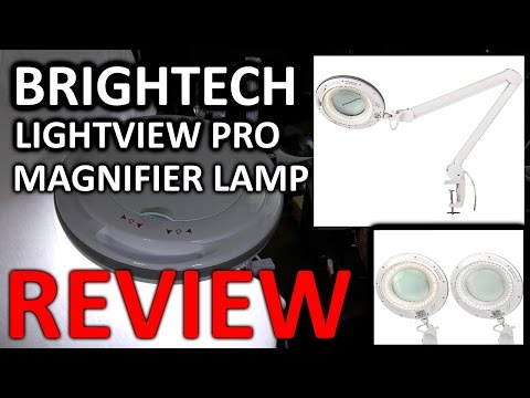 Brightech LightView Pro Dimmable LED Magnifier Lamp