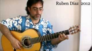Zapateado Rhythmical Exercises 1 / Ruben Diaz CFG-studio Malaga Flamenco Guitar Lesson