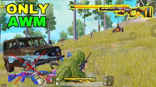 NO WEAPONS!! AWM ONLY CHALLENGE | PUBG MOBILE