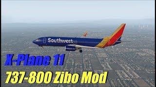 X-Plane 11 - 737-800 Zibo Mod | KSAN to KLAX (Cold/Dark, IFR)