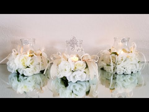 3 PIECE LUXURIOUS WEDDING CENTERPIECE |  DOLLAR TREE GLAM DIY | WEDDING IDEAS 2019