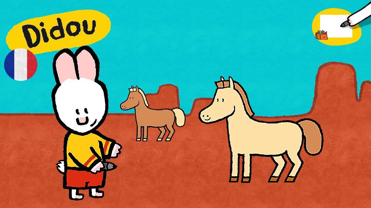 Cheval didou dessine moi un cheval dessins anim s pour - Dessin facile de cheval ...