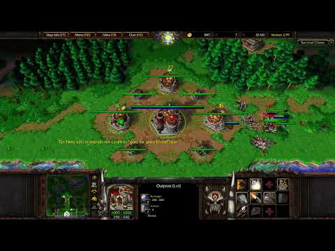 Warcraft 3: Survival Chaos #14 - Too Fat to Move + Undead Tier 4 Replacement!