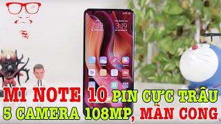 Mở hộp Xiaomi Mi Note 10 màn hình cong PIN CỰC KHỦNG, 5 CAMERA 108MP