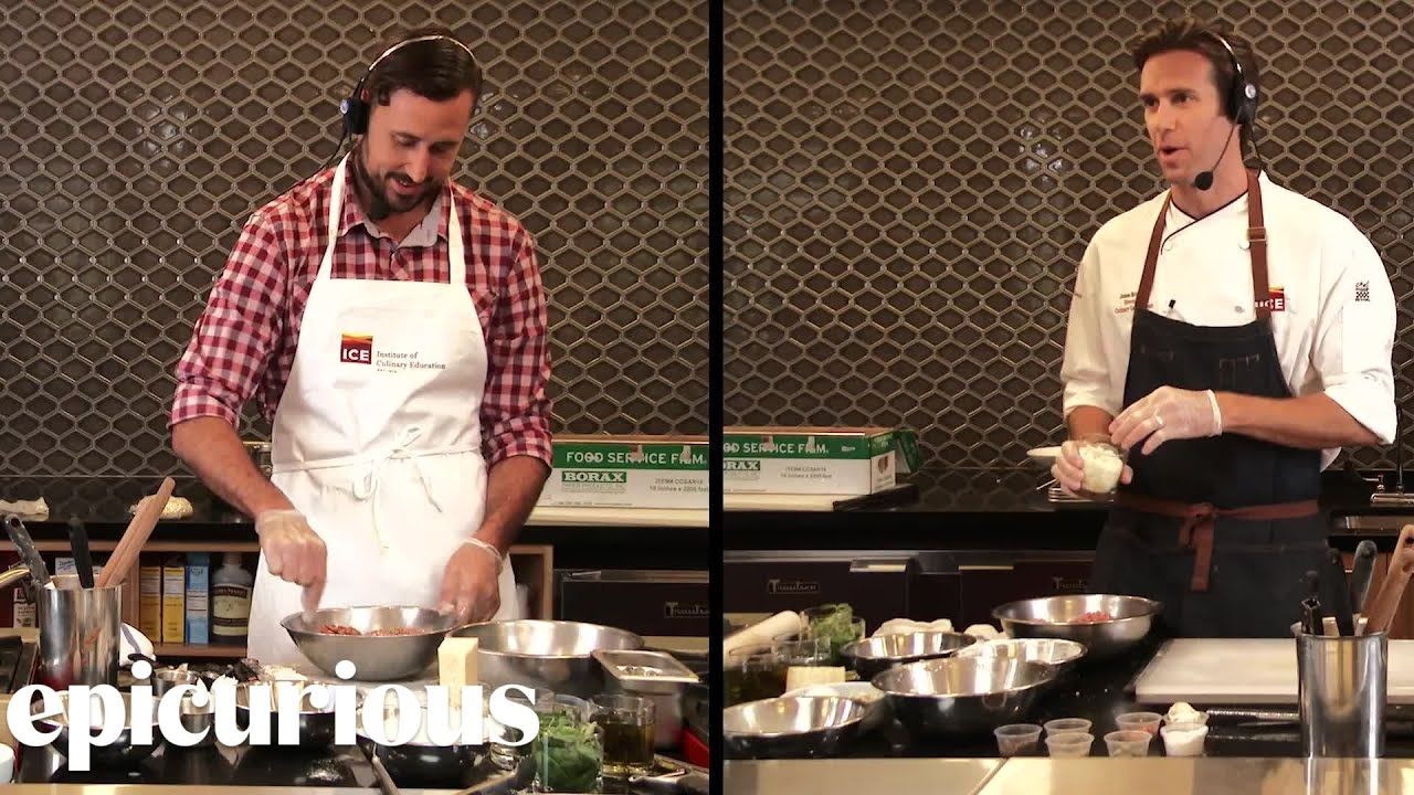 Professional Chef Challenges Amateur to Make Spaghetti & Meatballs With Him  | Epicurious