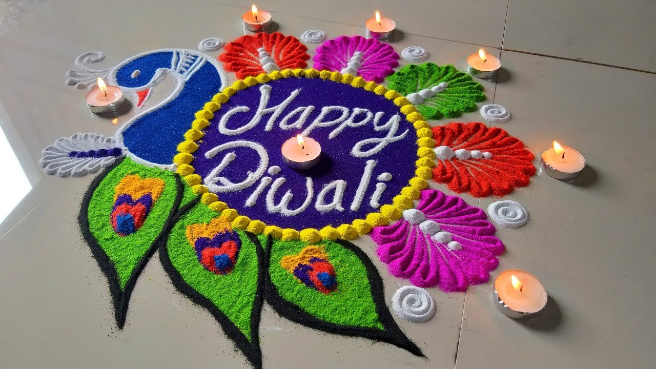 Diwali Festival Beautiful New Rangoli Designs À¤‡à¤¸ À¤¦ À¤µ À¤² À¤ªà¤° À¤¬à¤¨ À¤¯ Happy Diwali Colourful Rangoli Youtube