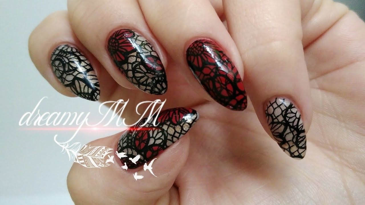 Elegant lace pueen stamping nail art youtube elegant lace pueen stamping nail art prinsesfo Choice Image