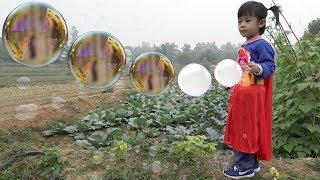 Cute Babies Blowing Bubbles Game For Kids – Thổi Bong Bóng Xà Phòng ❤ AnAn ToysReview TV ❤