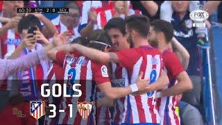 Gols - Atlético de Madrid 3 x 1 Sevilla - La Liga 16-17