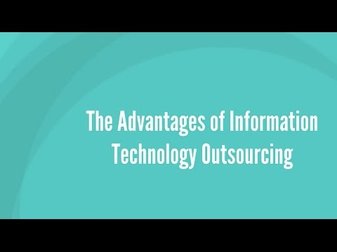 Advantages of Outsourcing IT