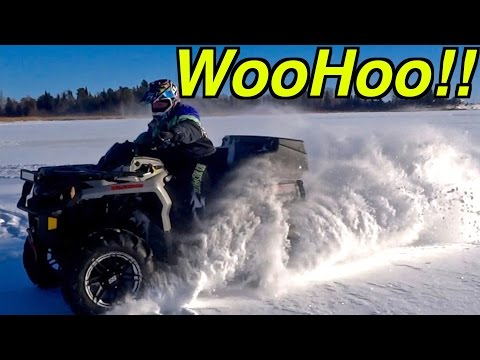 Donut Rippin', Lake Driftin', Ice Checkin', News Updatin', ATV Christmas Video - Dec.22, 2016