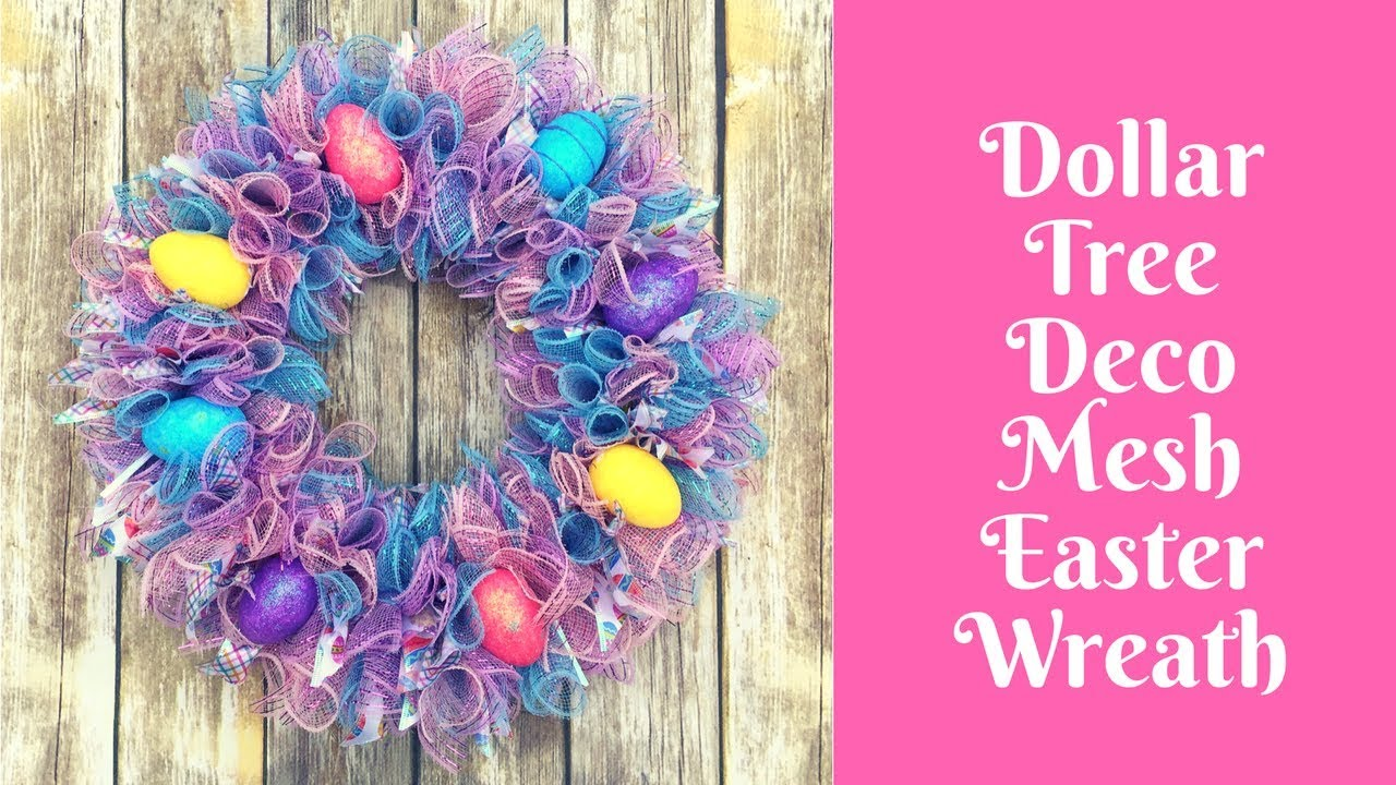 Dollar Tree Easter Crafts Deco Mesh Easter Wreath Youtube