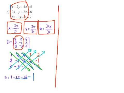 Matemática - Regra de Cramer (Sistemas Lineares) - Lista 01