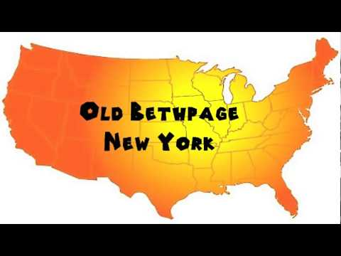 How to Say or Pronounce USA Cities — Old Bethpage, New York