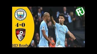 Manchester City vs Bournemouth (4-0) All Goals & Highlights HD - EPL