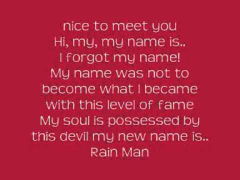 Eminem - Rain Man (Lyrics)