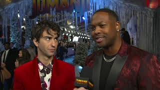 Alex Wolff Spencer and Ser'Darius Blain on Jumanji 2