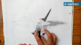 How to draw f-22 Raptor