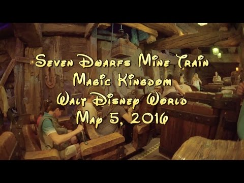 Seven Dwarfs Mine Train On Ride POV, Walt Disney World, Low Light Camera HD 60fps