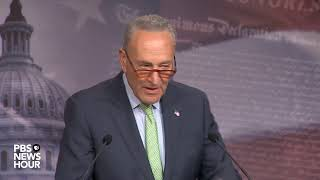 WATCH LIVE: Schumer speaks to reporters after Senate disaster aid bill vote