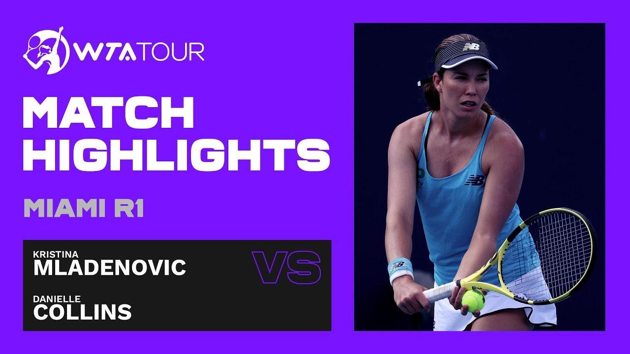 Kristina Mladenovic vs. Danielle Collins | 2021 Miami Round 1 | WTA Match Highlights