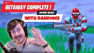 FORTNITE GETAWAY LTM WITH RANDOMS = VICTORY ROYALE