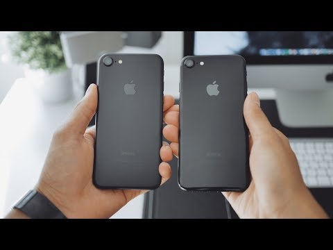 The Iphone 7 jet black vs matte black - Why WIN ?