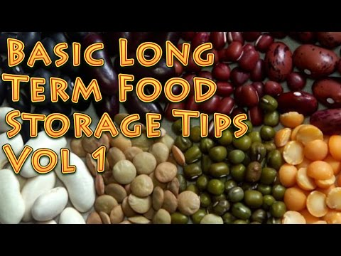 Basic Long Term Food Storage Tips PT 1
