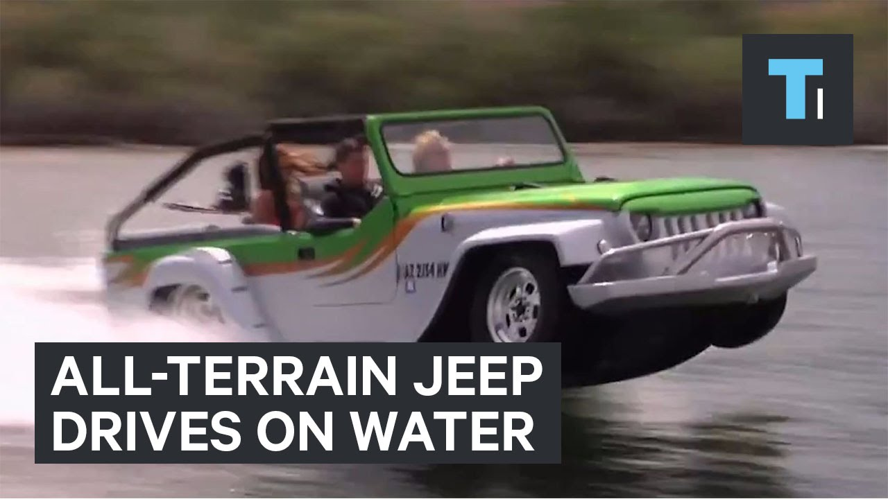 Allterrain jeep drives on water  YouTube