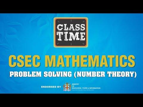 CSEC Mathematics - Problem Solving Number Theory - June 3 2021