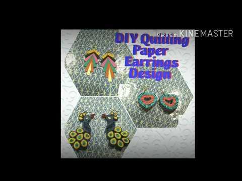 DIY  Quilled Paper Earrings Design Images   Handicrafts   Handmade Jewellery by khushbu singh