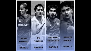 Indian Players Badminton World Ranking | 29 Nov 2018 |  Srikanth Kidambi | PV Sindhu | Saina Nehwal