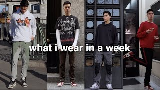 what i actually wear in a week…