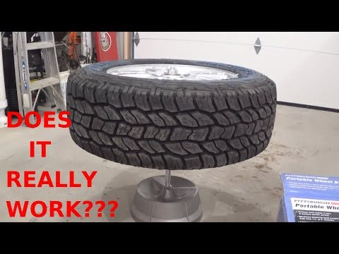 Harbor Freight Wheel Balancer ............How to balance a tire