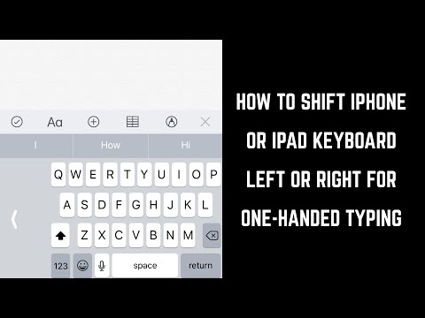 How to Shift iPhone or iPad Keyboard Left or Right