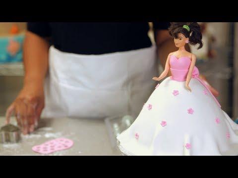 Fondant Flowers for Princess Doll Cake Birthday Cakes YouTube