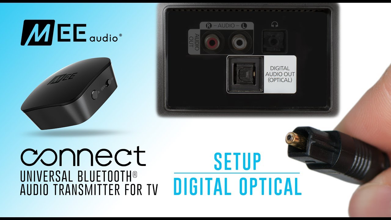 MEE audio Connect Bluetooth Audio Transmitter for TV | Using Digital Optical - YouTube