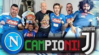 CAMPIONI!!! NAPOLI 4-2 JUVENTUS (d.c.r)  | LIVE REACTION COPPA ITALIA HD