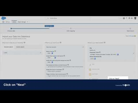 How to import leads in Salesforce lightning from a CSV file