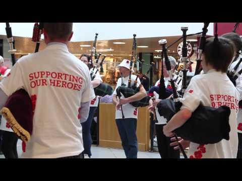 Poppyscotland Flashmob 2014 - Bon Accord Centre, Aberdeen