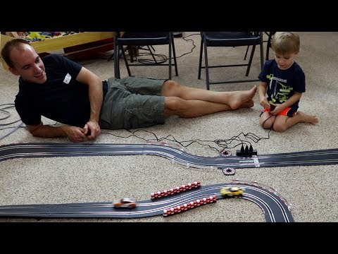 SLOT CAR RACING WITH MY BOY!