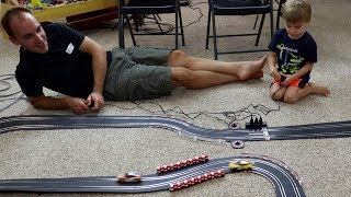 SLOT CAR RACING WITH MY BOY