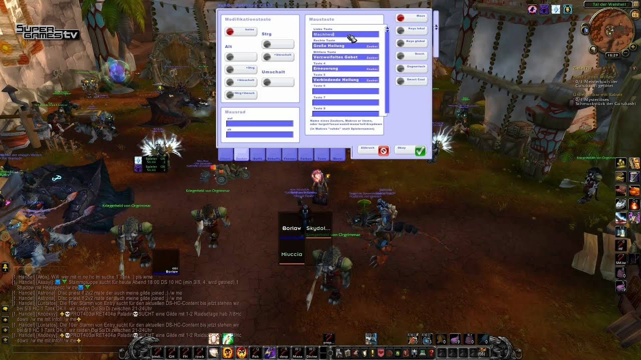 Barlows Addon Guide: Vuhdo